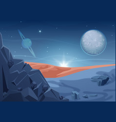 Fantasy mystery alien landscape another planet vector