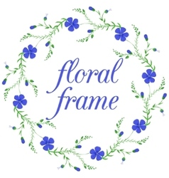 Floral frame wreath design element vector