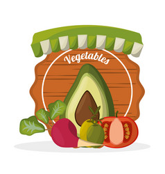 Fresh vegetables diet organic image vector