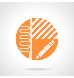 Heated floor project orange round icon vector image vector image