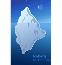 Iceberg night vector