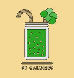Icon in flat design smoothies broccoli vector