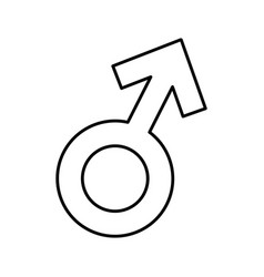 Male symbol isolated icon vector