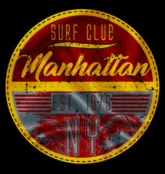 manhattan surf club vector image