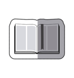 middle shadow sticker grayscale with open book vector image vector image