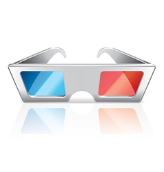 object 3d glasses vector image