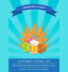 Oktoberfest is here 2017 vector