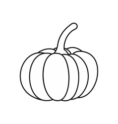 Pumpkin icon outline style vector image vector image