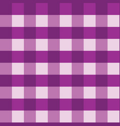 purple gingham tablecloth seamless vector image vector image