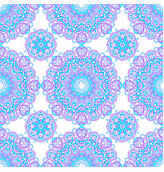 Seamless pattern of round abstract mandalas vector