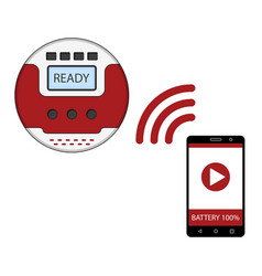 smartphone app for control of robot vacuum cleaner vector image vector image