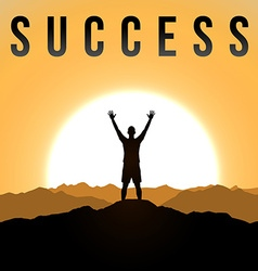Success theme vector image