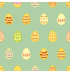 Tile pattern with easter eggs on mint green vector