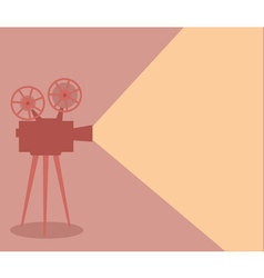 Vintage cinema projector lighting vector image vector image