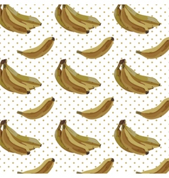 Vintage watercolor bananas pattern vector