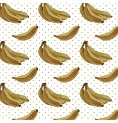 Vintage Watercolor bananas pattern vector image vector image