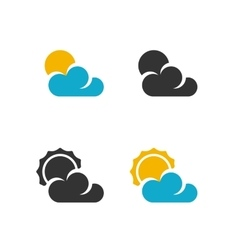 Weather Icon logo on white background vector image vector image