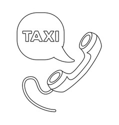yellow handset with cord to call a taxi taxi vector image