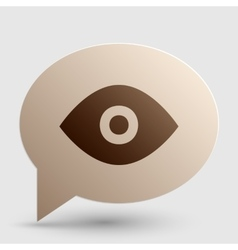 Eye sign  brown gradient icon on vector