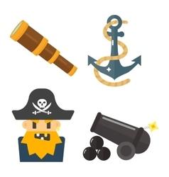 Treasures icons set vector image