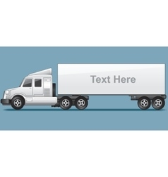 Abstract modern long cargo truck vector