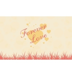 Romance theme landscape for valentine vector