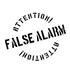 False Alarm rubber stamp vector image