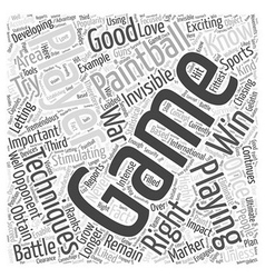Bwpb paintball playing techni word cloud concept vector
