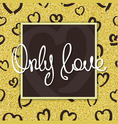 only love vector image