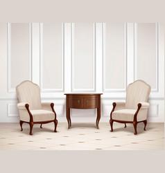 Classic interior design vector
