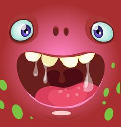Cartoon monster face avatar vector