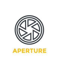 Aperture line icon vector