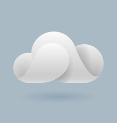 Abstract white cloud vector image