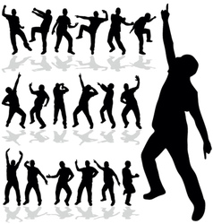 Man dancing silhouette vector