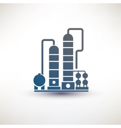 petrochemical plant vector image