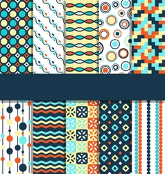 Seamless geometric bright abstract patterns vector