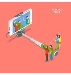 Selfie monopod isometric flat concept vector image