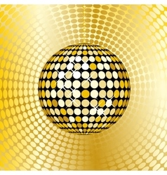 Abstract gold disco ball vector