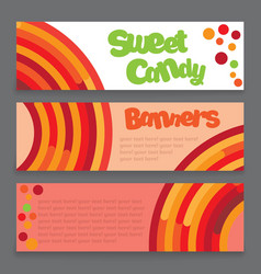 Banners of a lollipop vector