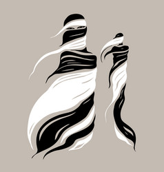 beautiful muslim woman abstract fashion vector image