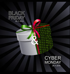 Black friday and cyber monday sale banner vector image vector image