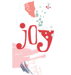 Christmas greeting card modern style vector
