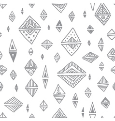 Ethnic ornate triangle romb seamless pattern vector