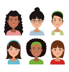 friendship cartoon design vector image