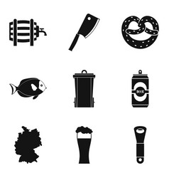 frothy icons set simple style vector image vector image