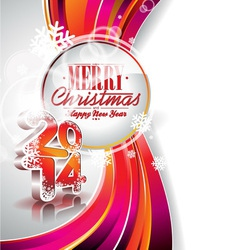 Happy New Year 2014 colorful background vector image vector image