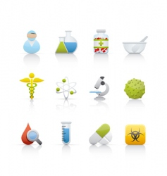 Icon set medical and pharmacy vector