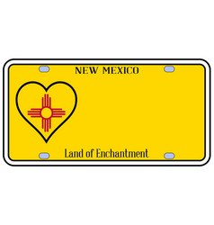 New mexico state license plateai vector