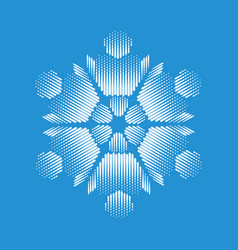 Nice snowflake icon simple style vector