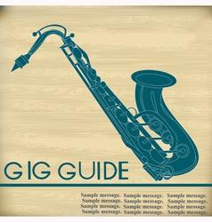 Retro Saxophone vector image vector image